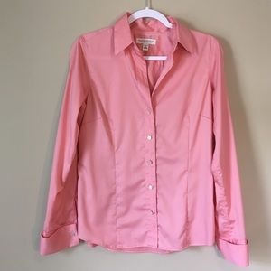 Banana Republic Non Iron Tailored Coral Stretch 8